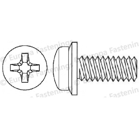 Sems Screw Pan (Din 7985) Phillips c/w Conical Spring (Din 6908) Washer